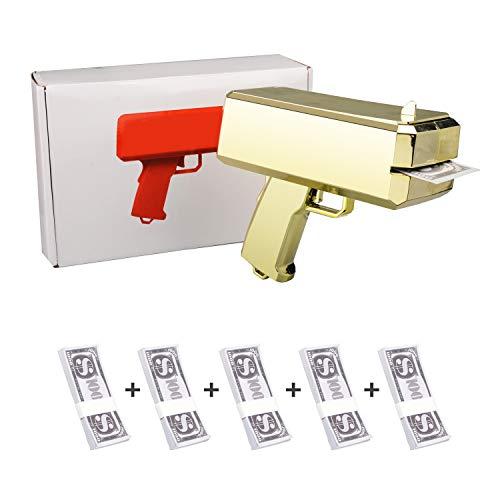 New Supreme 17ss cashcannon Geld Gun machen es Regen Geld Rot Christmas Toys Fashion Spielzeug Geschenk 300 * Cash (Gold)