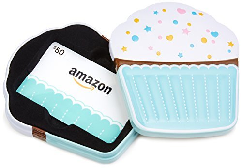 Amazon.ca $50 Gift Card in a Birthday Cupcake Tin (Birthday Cupcake Card Design)