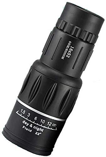 JJDSN Telescopio monocular 10x52, monocular Compacto de Alta Potencia con Lente BAK4 Prism FMC Monocular con Montura para teléfono Inteligente y trípode para Adultos, niños, observación de Aves