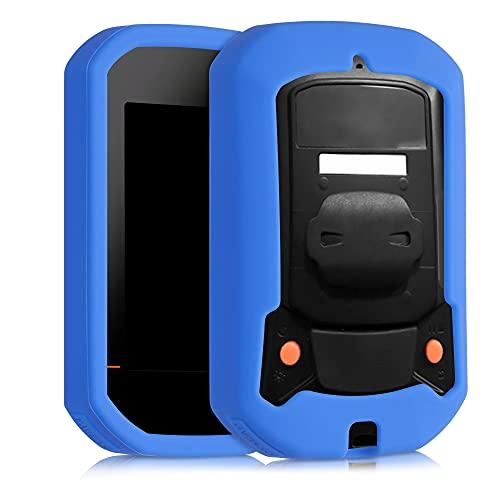 kwmobile Custodia compatibile con Bryton Rider 420/320 - Cover protettiva navigatore bici - Custodia Porta navigatore dispositivo GPS in silicone - blu