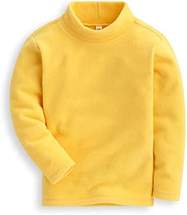Mud Kingdom Girls Shirts Fleece Turtleneck Base Tops Plain 6 Yellow product image