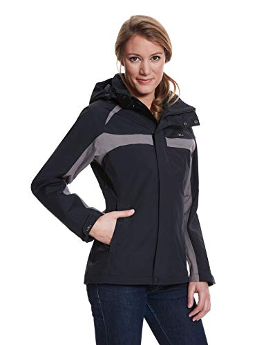 Jeff Green Damen Atmungsaktive wasserdichte Outdoor Funktions Jacke Magna 12,000mm Wassersäule, Größe - Damen:42, Farbe:Black