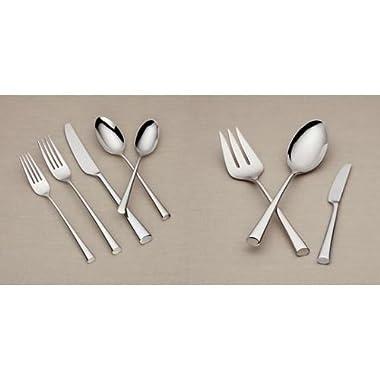 Dansk Bistro Cafe 43 Piece 18/10 Stainless Steel Flatware Set, Service for 8
