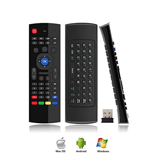 Air Mouse for Android tv Box, Gimibox MX3 Pro Wireless Keyboard 2.4G Smart TV Remote with Motion Sensing Game Handle Android Remote Control for Android TV Box/PC/Smart TV/Projector/HTPC/All-in-one PC/