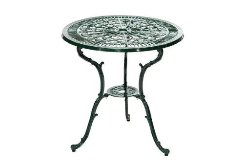 gartenmoebel-einkauf Tisch Lugano grün 70cm rund, Aluguss wetterfest