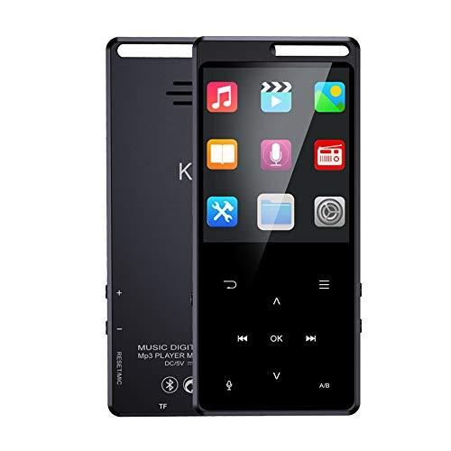 GIHI Reproductores De MP3 Pantalla De 1,8 Pulgadas Reproductor De Música Bluetooth 4.2 Sonido Portátil Sin Pérdida Reproductor De MP3 con Reproducción De Video Lectura De Texto