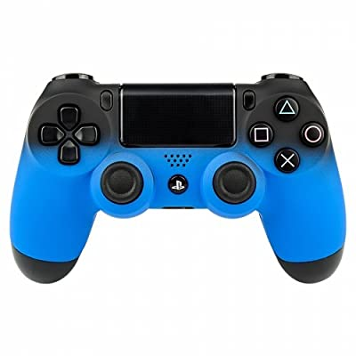 Shadow Blue PS4 PRO Rapid Fire Custom Modded Controller 40 Mods for All Major Shooter Games & More (CUH-ZCT2U)