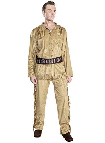 Maskworld Old Shatterhand Kostüm Cowboy, Trapper, Fährtensucher Western - Größe: M - Lizenz-Kostüme aus den Karl-May-Filmen für Karneval und Motto-Party