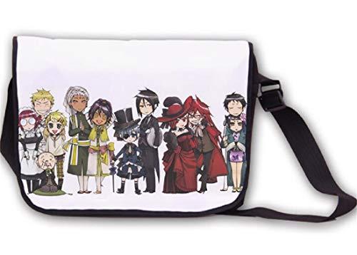 YOYOSHome Anime Black Butler Messenger Bag Cosplay Sebastian Michaelis Büchertasche Handtasche Schultertasche Laptoptasche Schultasche