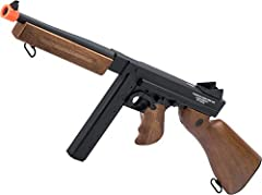 POWERFUL ELECTRIC: 320-365 FPS with .20g ammo via 8.4v small type battery READY TO PLAY: Shoots 6mm ammo in full and semi-automatic REPLICA: made with heavy duty polymer and metal for a realistic feel and features original logos and trademark. Weighs...