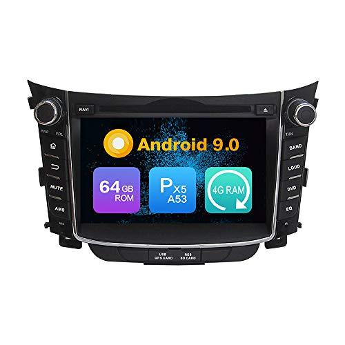 Android 10.0 Ocho nucleos Ram 4G ROM de 64 GB Autorradio GPS Navegación Control del Volante DVD Unidad Principal Estéreo Enlace Espejo WiFi Bluetooth 4G PorHYUNDAI I30 2011 2012 2013 2014 2015 2016
