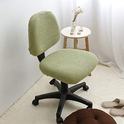 Icegrey Elastische stoelbekleding voor bureaustoelen, draaistoel, bekleding, stoelhoezen Fijne lijn groen
