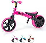 Yvolution Y Velo Toddler Balance Bike   9' No-Pedal Learning Bike for Kids Age 18 Months-5 Years (Pink2)