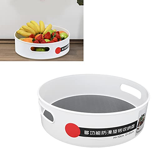 Plato giratorio de cocina, organizador de plato giratorio Respetuoso con el medio ambiente Dos asas abiertas para almacenamiento en la sala de estar para almacenamiento en el baño para