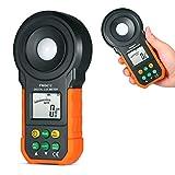 NOBGP Luxmetro Digitale, Illuminatore Portatile ad Alta precisione Fotometro Luminometro Spettrometro con Gamma Manuale Automatica per Tester di Luce Esterna per Interni