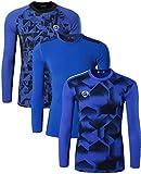 Photo de jeansian Herren 3 Packs Athletic Quick Dry Long Sleeves Sport T-Shirt Tees LA191_197_213 Blue XL par