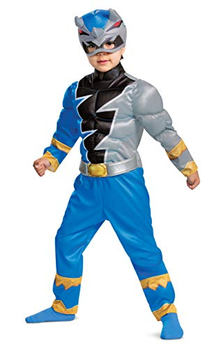 Disguise Blue Power Ranger Costume for Toddlers, Official Power Rangers Dino Fury Outfit with Mask...