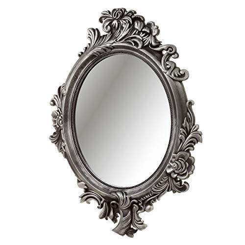 Espejo Cornucopia clásico Gris de plástico de 70x50 cm - LOLAhome