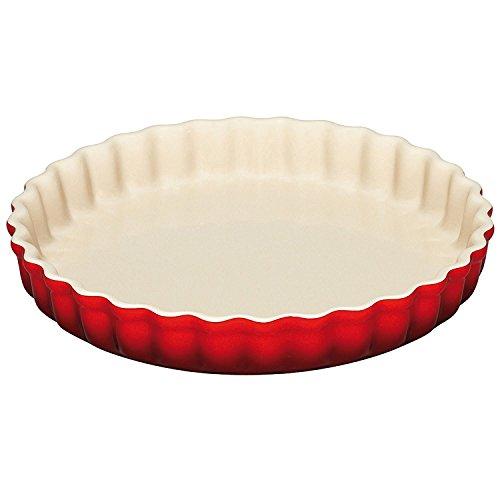 Le Creuset PG0600-2467 Stoneware Tart Dish, 1.45-Quart, Cerise