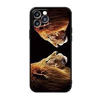 ウルフウォリアー携帯電話ケースはFor iPhone11 12 Mini ProMaxファッションアニマルリキッドシリコンラグジュアリーケースに適しています-2002SZ-For iPhone 11