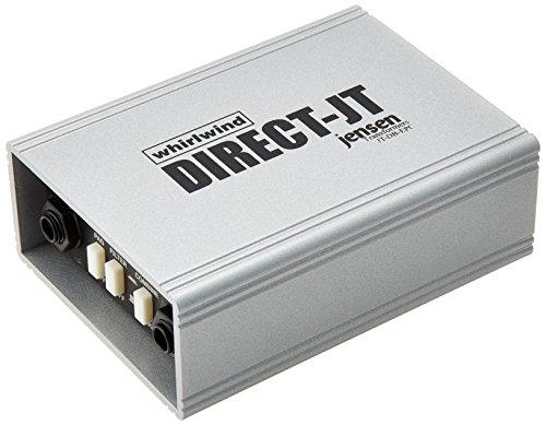Whirlwind DIRECT-JT Single Channel Passive Direct Box with Jensen Transformer, 20Hz-20kHz Frequency Response, XLR/1/4' TS Phone Thru Output Connectors