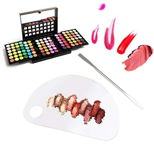 CFtrum Paletas de Maquillaje profesional de Acrílico. Paletas de mezcla de maquillaje...
