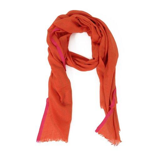 HINZE (SH110) Sciarpa in seta/lana, sciarpa donne e uomini (unisex), 70 x 200 cm, colore: rosso