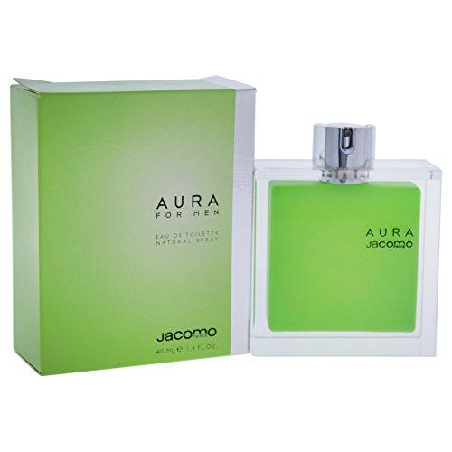 Jacomo Aura Eau de Toilette Spray for Men, 1.4 Ounce