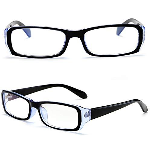 CYY Gafas de Lectura Unisex Ligeras para Ordenador con Bloqueo de Luz Azul Antifatiga,Lectores Rectangular Moda Clásico con Bisagra de Resorte,+1.0,+1.5,+2.0,+2.5,+3.0,+3.5