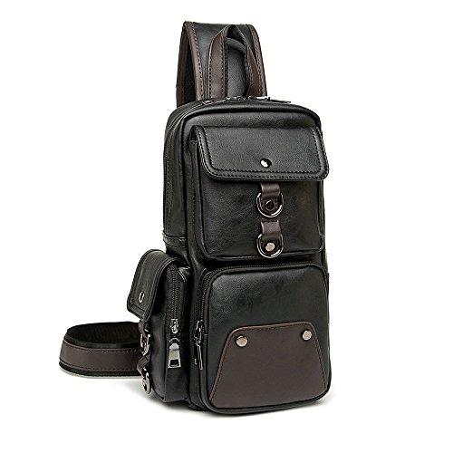 iVotre Brust Pack für Herren Casual Modische Utilitarian Schulter-Sling Bag 4. Große...