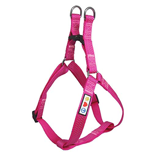 Pawtitas Reflective Step in Dog Harness or Reflective Vest Harness, Comfort Control, Training Walking of Your Puppy/Dog Large Dog Harness L Pink Dog Harness