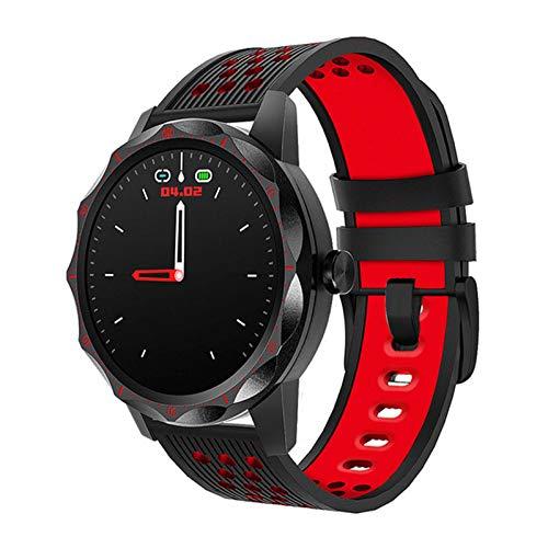 Gulu Fitness Tracker IP67 Reloj Inteligente Impermeable Monitor De Ritmo Cardíaco Bluetooth Deporte Hombres Smartwatch para iOS Android,A