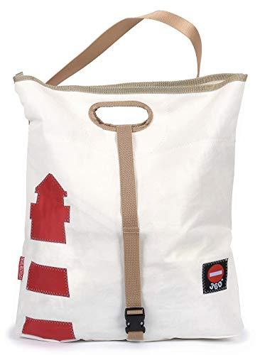 Einkaufstasche Strandtasche Tender Leuchtturm recyceltes Segeltuch von 360 Grad