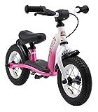 BIKESTAR Kinder Laufrad Lauflernrad Kinderrad für Mädchen ab 2 - 3 Jahre ★ 10 Zoll Classic Kinderlaufrad ★ Pink & Weiß