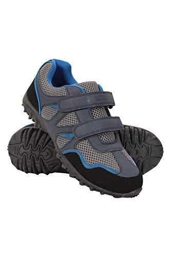Mountain Warehouse Mars Abriebfeste Schuhe für Kinder - Leichte Wanderschuhe, Bequeme Schuhe, Wanderschuhe mit Klettverschlüssen Marineblau 34