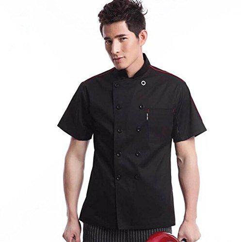 WAIWAIZUI Cocina Uniforme Camisa de Cocinero Manga Corta, Co