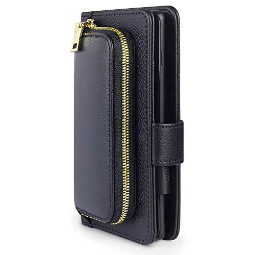 TERRAPIN, Kompatibel mit Samsung Galaxy A21 Hülle, Damen-Portemonnaie mit Geldbörse & Kartenhalter, Echtes Spaltleder außen