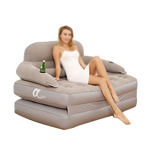 BRFDC Lazy Sofa Meditationsstuhl Aufblasbares Sofa mit Rückenlehne | Aufblasbares Bett for Zwei | Luftbett | Faules Sofa | Lounge Chair | Belastbar 300kg | 203 × 152 × 18 cm