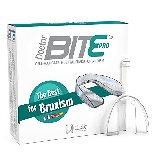 Férula Descarga Bruxismo Moldeable, Dispositivo Médico Dulàc Doctor Bite Pro, Made in Italy - Férula de Descarga Nocturna (también útil para el Día), Protector Bucal para Dormir, Con Contenedo