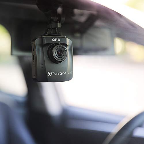 Transcend DrivePro 250 Dashcam con GPS Blickwinkel Horizontal MAX.=140° 12 V, 24V WLAN, batería Recargable