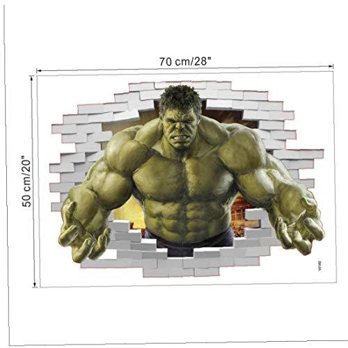 Bongles Superhelden-Comic Avengers Der Unglaublichen Hulk Wandaufkleber Vinyl Art Home-Kind-Junge Schlafzimmer Poster Thor Nursery Dekor-abziehbild