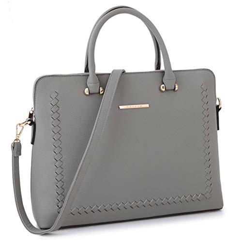 Dasein Women's Handbag Large Shoulder Bag Tote Satchel Purse Top Handle Bag (7166- Dark Grey New)