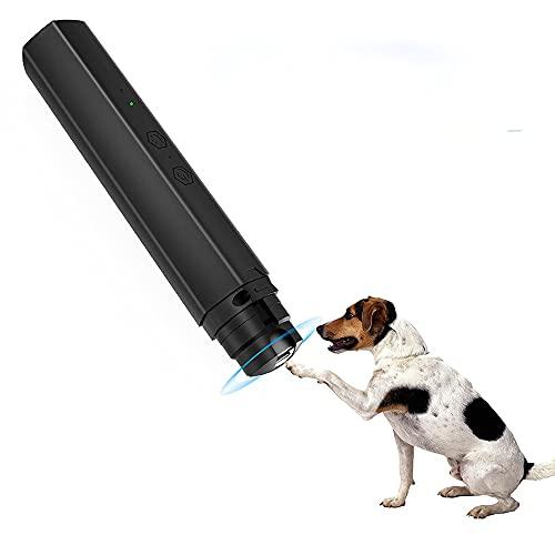 ADSVMEL Cortaúñas para Perros Cortaúñas LED Recargables eléctricas de 2 velocidades Cortaúñas para Mascotas 3 Puertos de tamaño Patas indoloras Aseo para Mascotas pequeñas