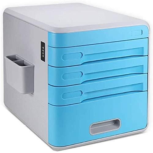 RUCC Presentación Sencilla Gabinete Móvil Escritorio Bloqueado con Mobile Cierre de plástico de Almacenamiento de Datos Gabinete Vertical del Compartimiento de Archivos Escritorio Caja (Color : #6)