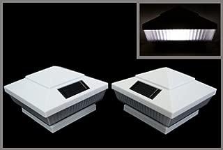 12-Pack Solar White Post Deck Fence Cap Lights for 4