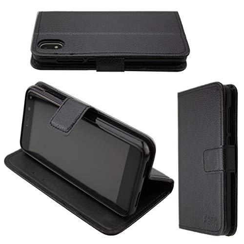 caseroxx custodia per Archos Access 50s, Bookstyle-Case Custodia protettiva book cover per smartphone in colore nero