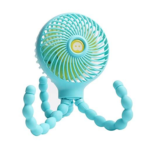 GMN Ventilador Plegable pequeño Octopus con Soporte para teléfono móvil Mini Soporte para teléfono de Mano Azul 28,7 * 11,1 * 8,2 cm