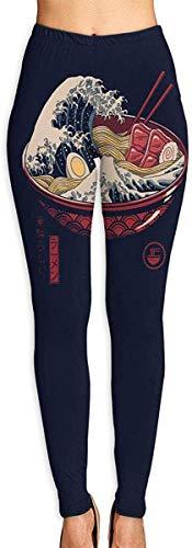 Irener yoga-byxor-sport-träningsdamväskor Japan Noodle 90 grader kvinnors kompression träning leggings