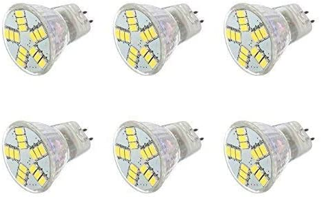 AC DC 12V 6W 6 Pack 超歓迎された Warm White Light Cluster 70%OFFアウトレット 15x LED 5630 M Bulb
