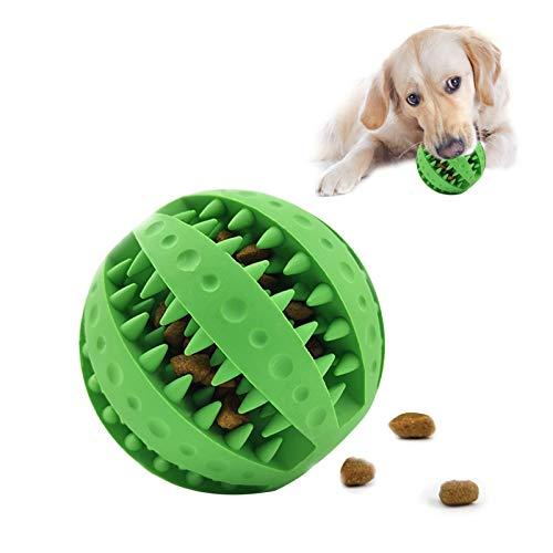 HORYDIA Giocattolo Pallina per Cani Indistruttibile in Gomma Naturale con Funzione di Cura Dentale Giocattolo da Masticare Interattivo Resistente -7cm di Diametro. (verde)